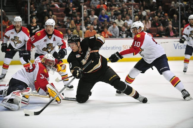 Anaheim Ducks vs. Florida Panthers - 11/16/14 NHL Pick, Odds, and Prediction