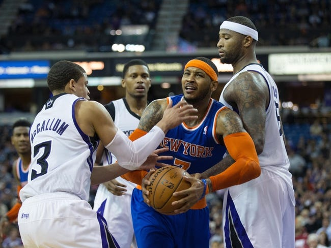 Sacramento Kings vs. New York Knicks - 12/27/14 NBA Pick, Odds, and Prediction