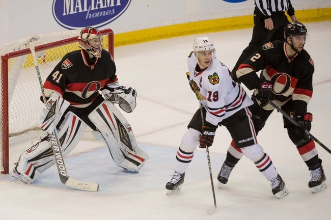 Blackhawks vs. Senators - 10/26/14 NHL Pick, Odds, Prediction