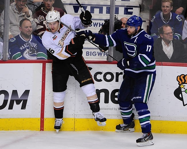 Vancouver Canucks vs. Anaheim Ducks - 4/7/14