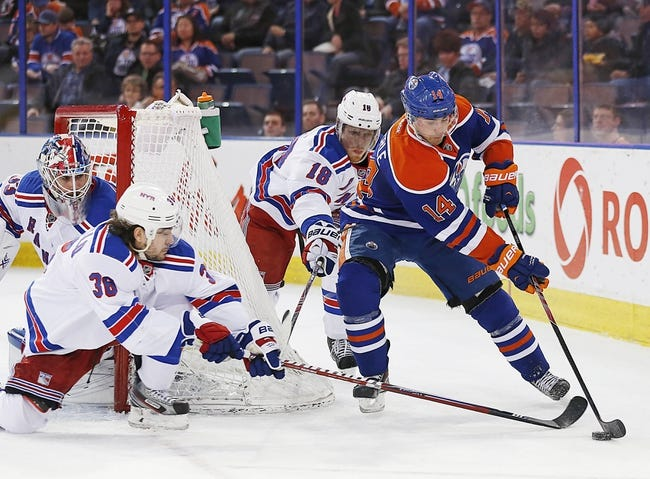 Rangers vs. Oilers - 11/9/14 NHL Pick, Odds, and Prediction