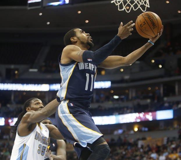 Memphis Grizzlies vs. Denver Nuggets - 4/4/14