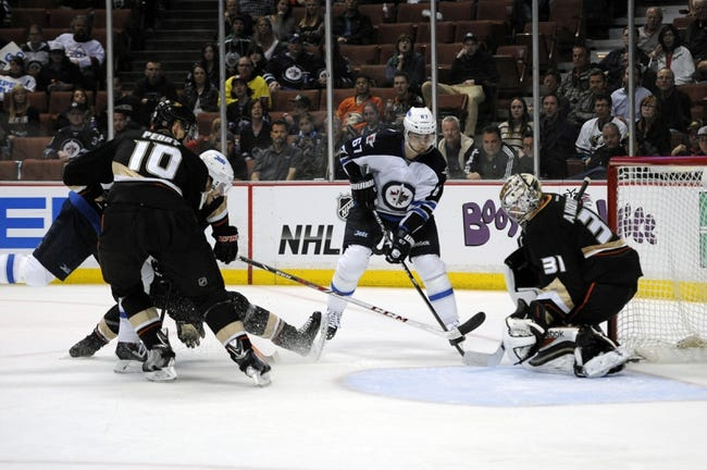 Winnipeg Jets vs. Anaheim Ducks - 12/7/14 NHL Pick, Odds, and Prediction