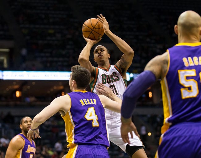Bucks vs. Lakers - 2/4/15 NBA Pick, Odds, and Prediction