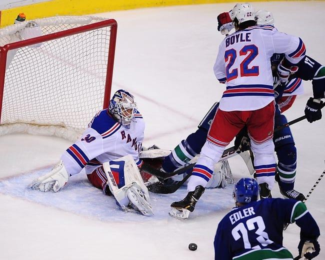 Vancouver Canucks vs. New York Rangers - 12/13/14 NHL Pick, Odds, and Prediction