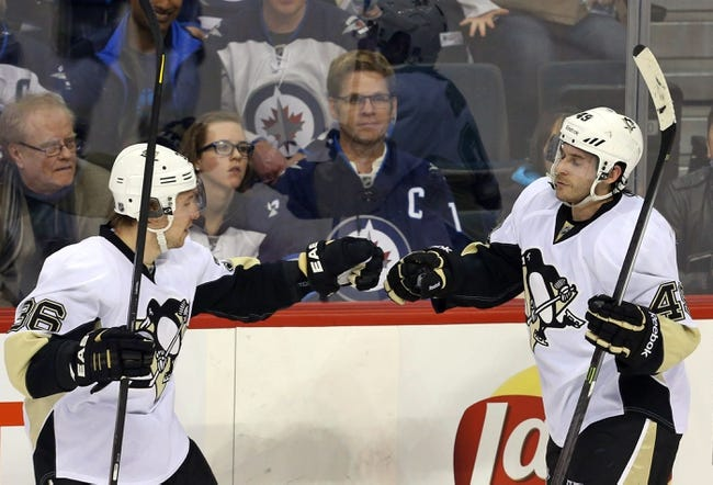 Winnipeg Jets vs. Pittsburgh Penguins - 11/6/14 NHL Pick, Odds, and Prediction