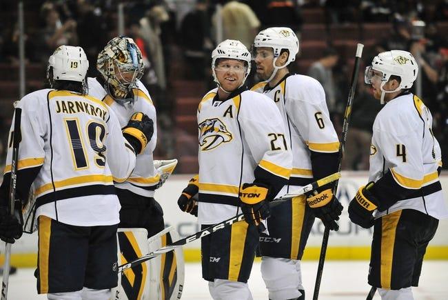 Anaheim Ducks vs. Nashville Predators - 1/4/15 NHL Pick, Odds, and Prediction