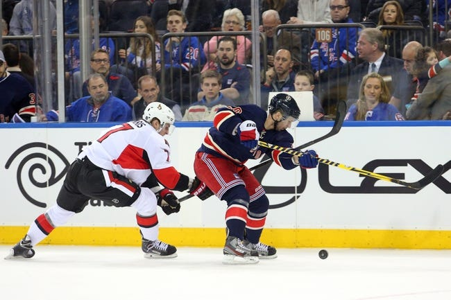 Rangers vs. Senators - 1/20/15 NHL Pick, Odds, and Prediction