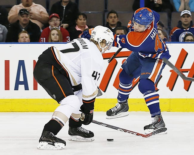 Anaheim Ducks vs. Edmonton Oilers - 12/10/14 NHL Pick, Odds, and Prediction