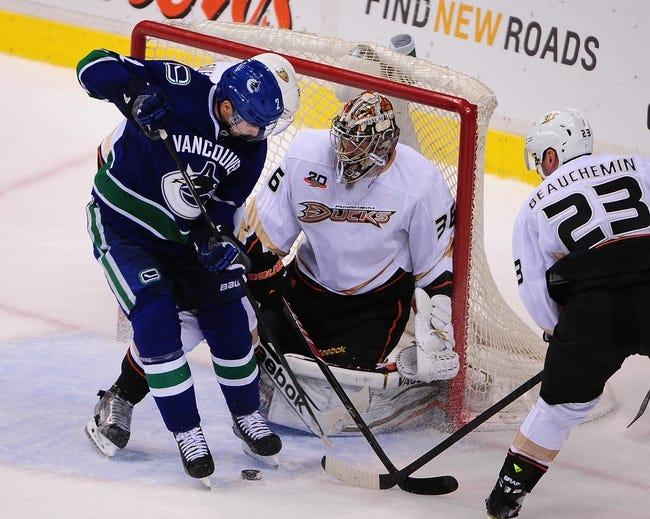 Ducks vs. Canucks - 11/9/14 NHL Pick, Odds, and Prediction