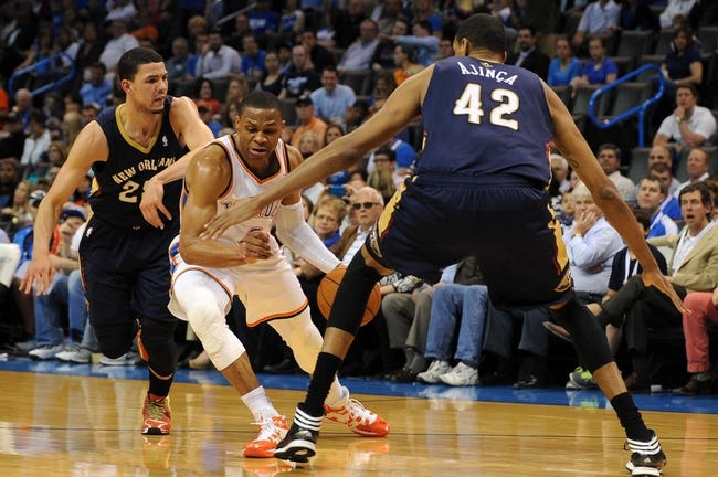 New Orleans Pelicans vs. Oklahoma City Thunder 10/16/14 NBA Preseason Pick, Odds, Prediction