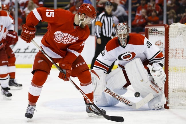 Carolina Hurricanes vs. Detroit Red Wings - 12/7/14 NHL Pick, Odds, and Prediction