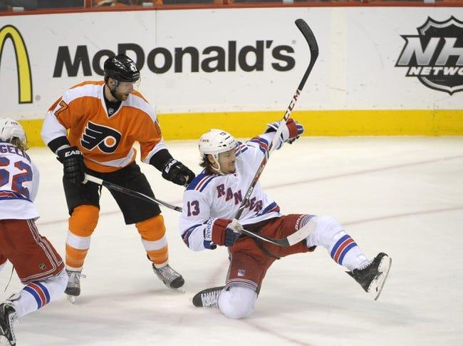 Philadelphia Flyers at New York Rangers Pick-Odds-Prediction - 4/27/14