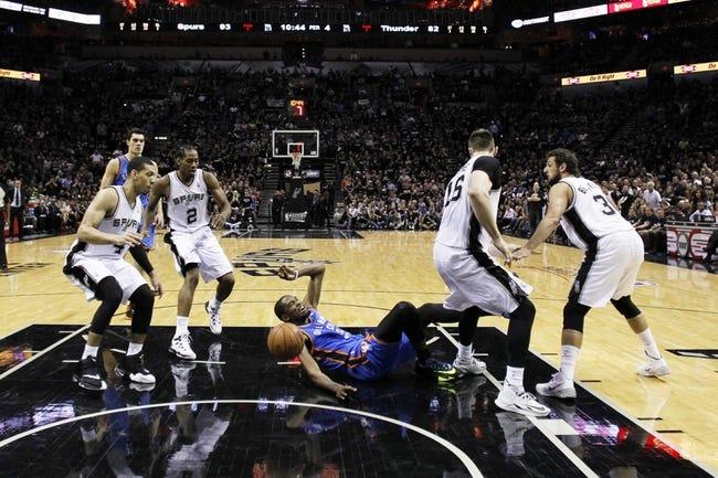 Oklahoma City Thunder at San Antonio Spurs NBA Pick, Odds, Predictions - 5/21/14 Game Two