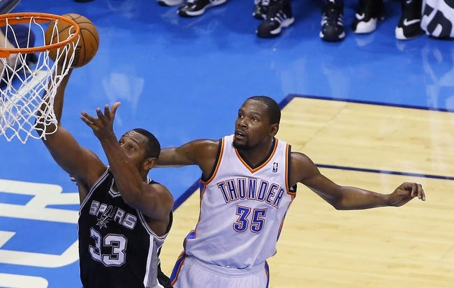 San Antonio Spurs at Oklahoma City Thunder NBA Pick, Odds, Prediction - 5/27/14 Game Four