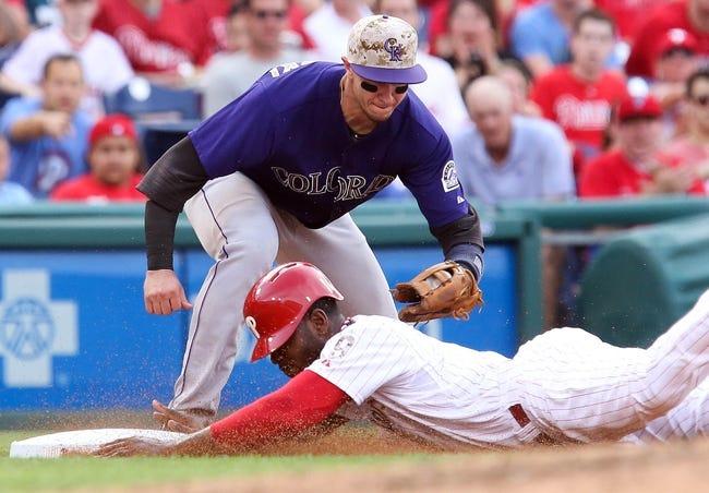 Philadelphia Phillies vs. Colorado Rockies MLB Pick, Odds, Prediction - 5/27/14