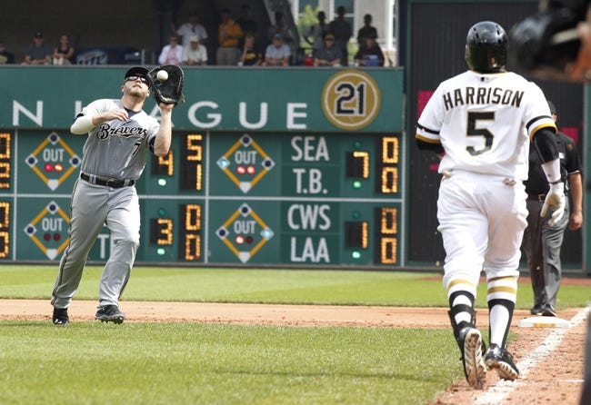 Milwaukee Brewers vs. Pittsburgh Pirates 8/22/14 Free MLB Pick