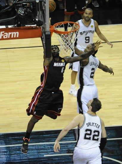 Miami Heat vs. San Antonio Spurs - 6/10/14 Game 3