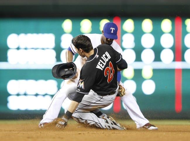 Texas Rangers vs. Miami Marlins - 6/11/14