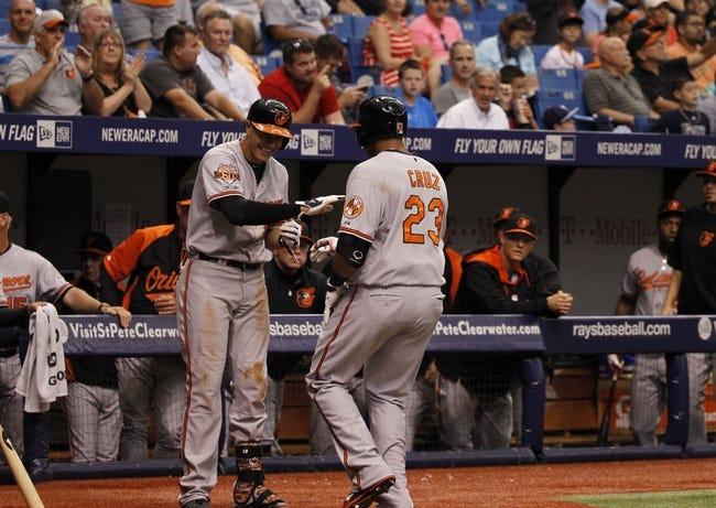 Baltimore Orioles vs. Tampa Bay Rays MLB Pick, Odds, Prediction - 6/27/14 Game Two
