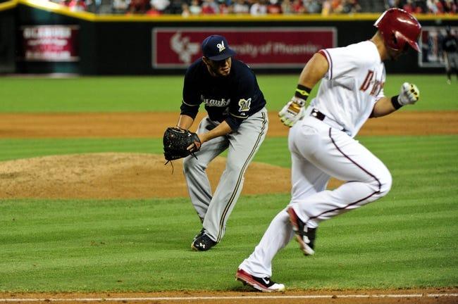 Diamondbacks at Brewers - 5/29/15 MLB Pick, Odds, and Prediction