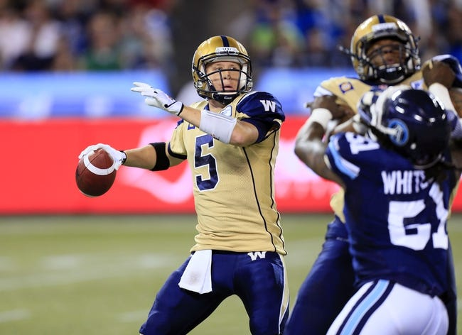 Hamilton Tiger-Cats vs. Winnipeg Blue Bombers CFL Pick, Odds, Prediction - 8/3/16