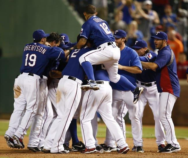 Texas Rangers vs. Tampa Bay Rays 8/13/14 MLB Pick, Odds, Prediction