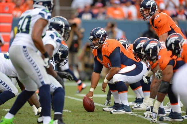 Denver Broncos at Seattle Seahawks 9/21/14 NFL Pick, Odds, Prediction