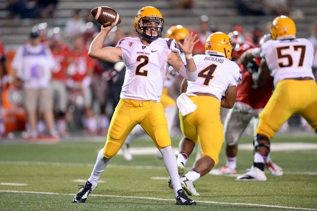 New Mexico Lobos vs. Arizona State Sun Devils - 9/18/15 College Football Pick, Odds, and Prediction