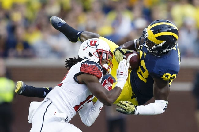 Utah Utes vs. Michigan Wolverines - 9/3/15 College Football Pick, Odds, and Prediction