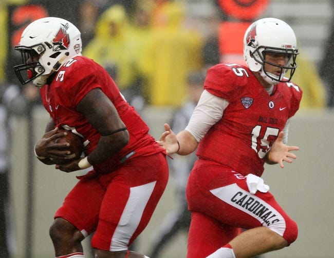 Ball State Cardinals vs. Akron Zips Pick-Odds-Prediction - 10/25/14