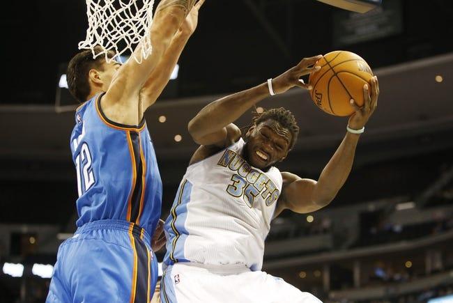 Oklahoma City Thunder vs. Denver Nuggets - 11/1/14 NBA Pick, Odds, and Prediction