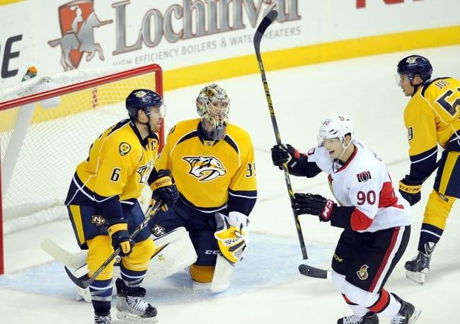 NHL | Nashville Predators (12-4-2) at Ottawa Senators (8-5-4)