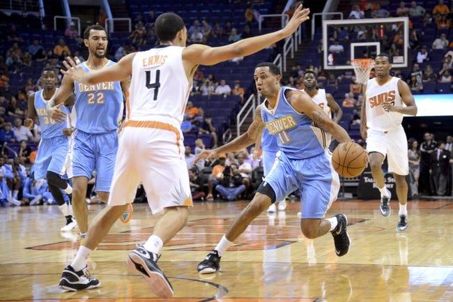 Nuggets vs. Suns - 11/28/14 NBA Pick, Odds, and Prediction