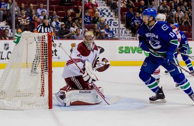 Canucks vs. Coyotes - 11/14/14 NHL Pick, Odds, and Prediction