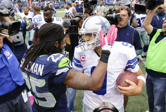 Seattle Seahawks at Dallas Cowboys- 11/1/15 NFL Pick, Odds, and Prediction