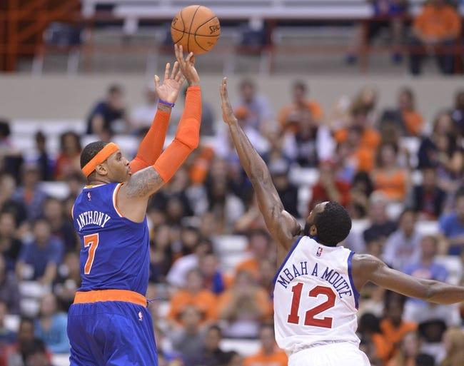 New York Knicks vs. Milwaukee Bucks 10/20/14 NBA Preseason Pick, Odds, and Prediction