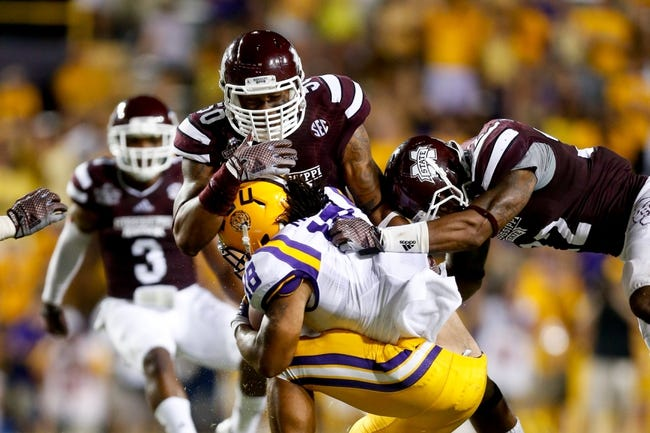 CFB | LSU Tigers (0-0) at Mississippi State Bulldogs (1-0)