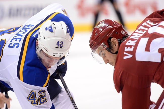 Arizona Coyotes vs. St. Louis Blues - 1/6/15 NHL Pick, Odds, and Prediction