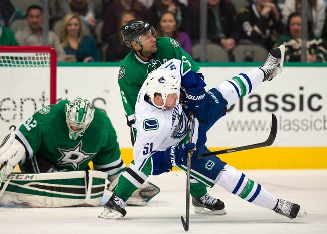 Vancouver Canucks vs. Dallas Stars - 12/17/14 NHL Pick, Odds, and Prediction