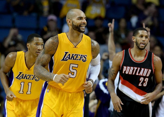 Trail Blazers vs. Lakers - 1/5/15 NBA Pick, Odds, and Prediction