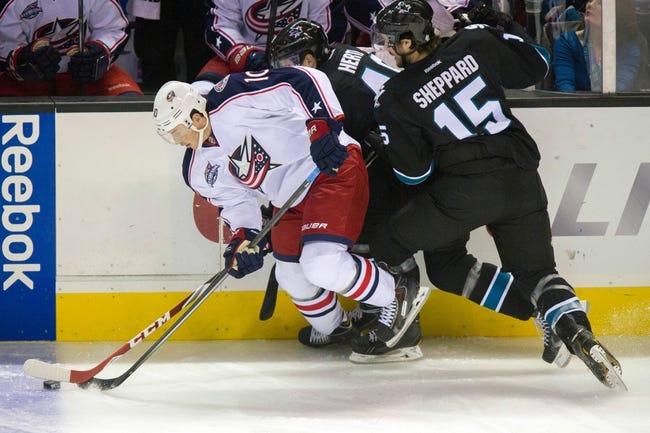 San Jose Sharks vs. Columbus Blue Jackets - 11/3/15 NHL Pick, Odds, and Prediction