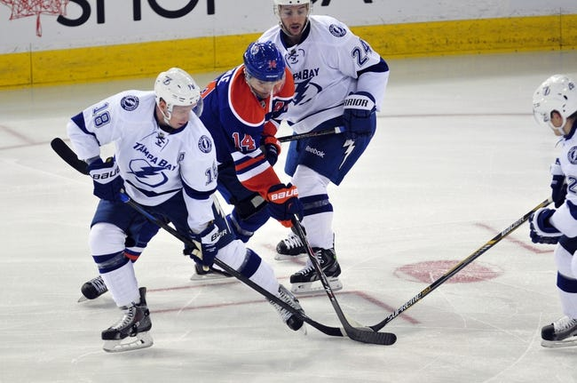Lightning vs. Oilers - 1/15/15 NHL Pick, Odds, and Prediction