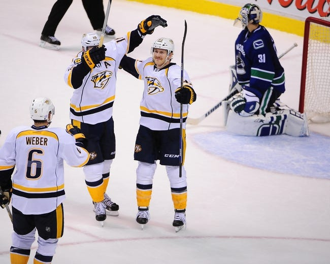 Nashville Predators vs. Vancouver Canucks - 1/13/15 NHL Pick, Odds, and Prediction