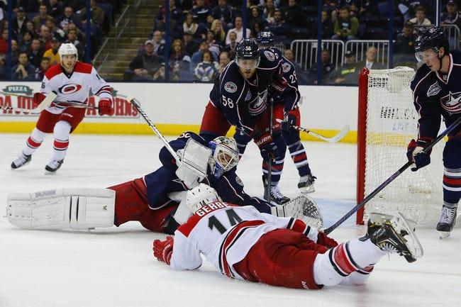 NHL | Columbus Blue Jackets (4-8-0) at Carolina Hurricanes (3-6-2)
