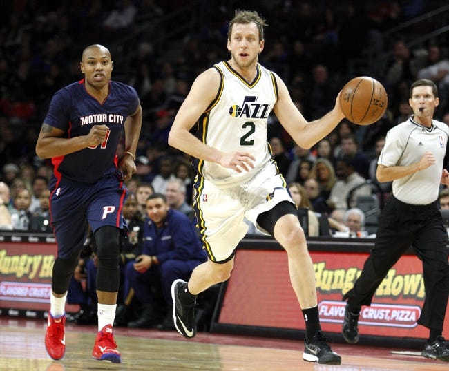 Jazz vs. Pistons - 3/14/15 NBA Pick, Odds, and Prediction