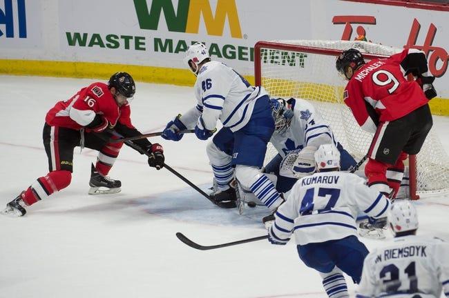 Ottawa Senators vs. Toronto Maple Leafs - 1/21/15 NHL Pick, Odds, and Prediction