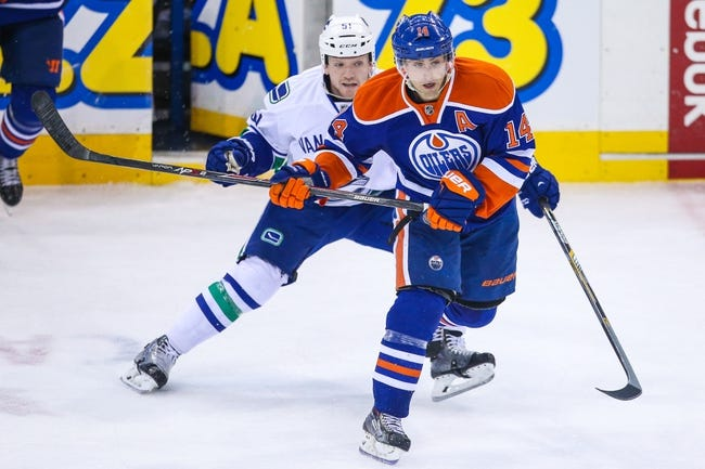 Edmonton Oilers vs. Vancouver Canucks - 11/19/14 NHL Pick, Odds, and Prediction