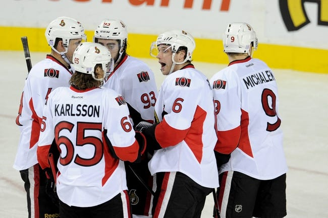 Ottawa Senators vs. Calgary Flames - 3/8/15 NHL Pick, Odds, and Prediction
