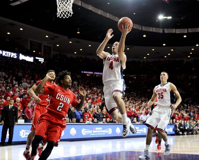 Arizona vs. UC Irvine - 11/19/14 College Basketball Pick, Odds, and Prediction